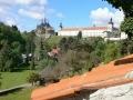 Jezuitská kolej a Barbora - pohled ze zahrad Vlašského dvora